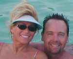 Anna Babin Neal and husband John, 10 year anniversary in Playa Car, Mexico.