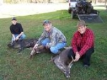 A great morning hunt at Lake Mary with my son and brother. Back strap and pork chops for the grill!!