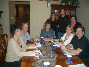 Reunion Committee Meeting, Feb 7 - Antoinette, Randy, Susie, Leslie, Jeff, Karen, Penny, Robert.  Missing Lisa, Mike, Sh